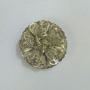 Vintage W.Germany Silver Filgree Scarf Clip